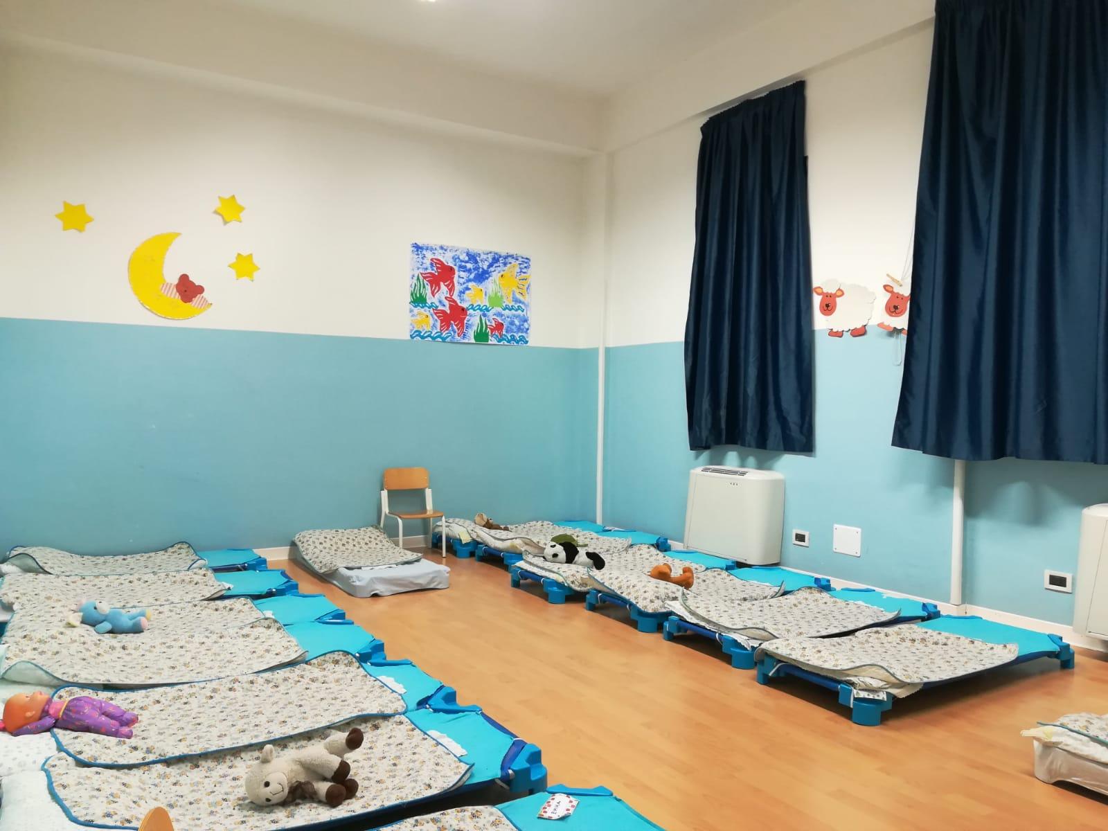 Foto casetta Fantasia, foto raffigurante i lettini e giocattoli dei bimbi