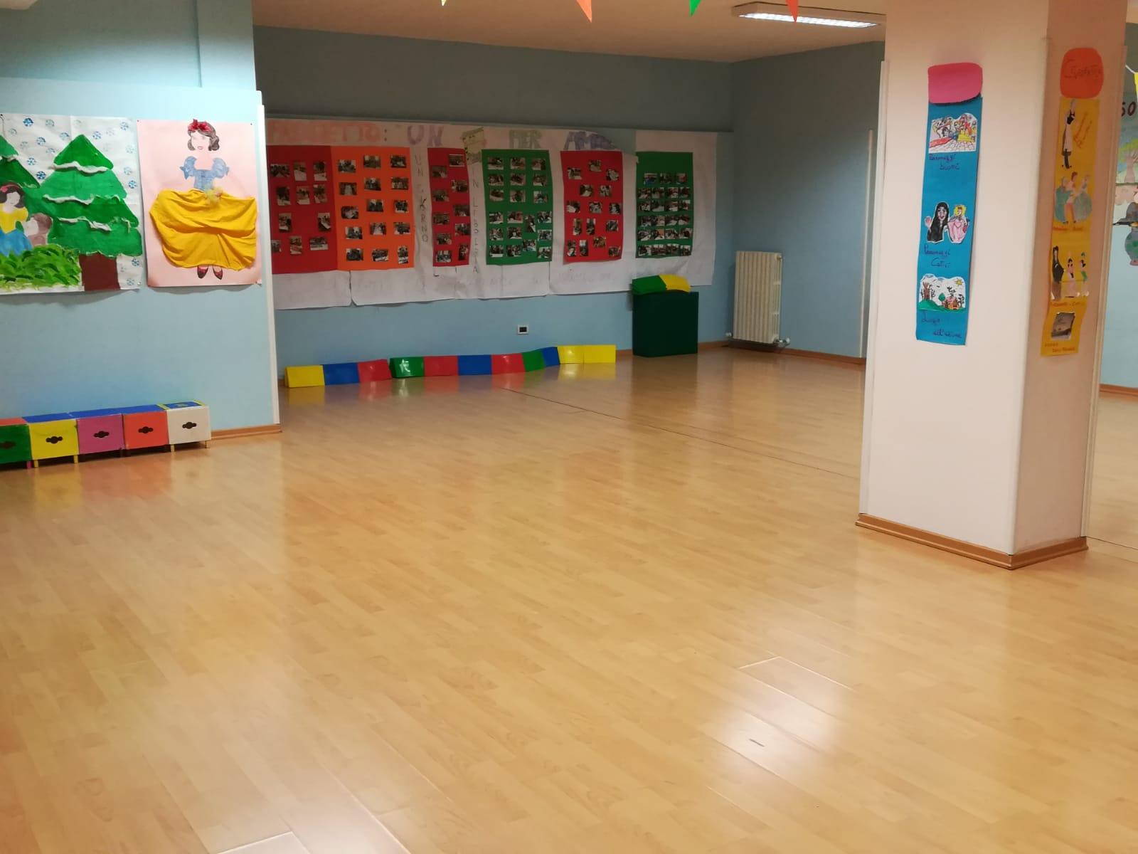Foto casetta Fantasia, foto raffigurante l'area gioco dei bimbi